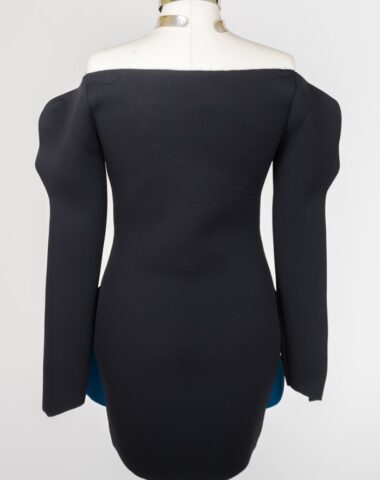 15 vestido unico moda de neopreno _pez abisal_ -colección_La ciudad perdida_Natalia Esgueva
